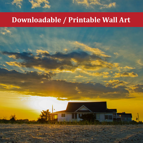Sunset at Bowers Landscape Photo DIY Wall Decor Instant Download Print - Printable