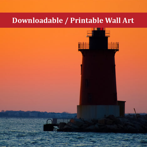 Sunset at Henlopen State Park 3 Landscape Photo DIY Wall Decor Instant Download Print - Printable