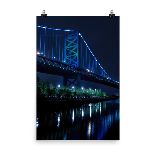 The Ben Franklin Bridge 3 Urban Landscape Loose Unframed Wall Art Prints  - PIPAFINEART