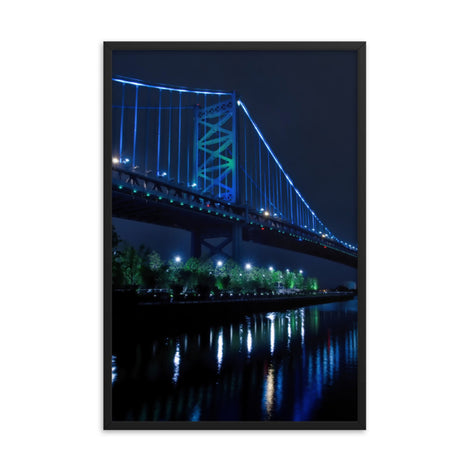 The Ben Franklin Bridge 3 Urban Landscape Photo Framed Wall Art Print