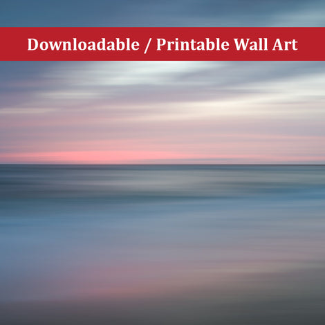 The Colors of Evening on the Beach Landscape Photo DIY Wall Decor Instant Download Print - Printable