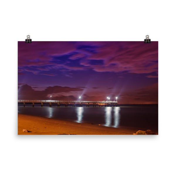 The Pier At Woodland Beach Urban Landscape Loose Unframed Wall Art Prints  - PIPAFINEART