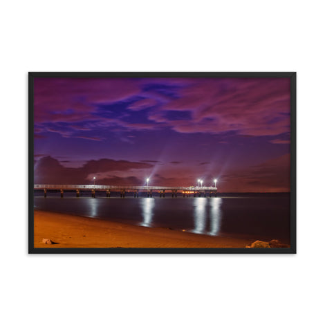 The Pier At Woodland Beach Urban Landscape Photo Framed Wall Art Print