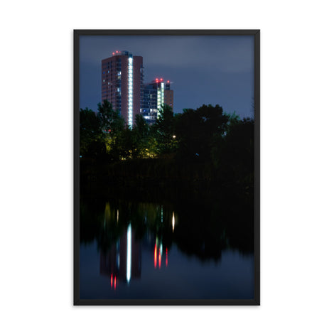 The Riverfront 4 Urban Landscape Photo Framed Wall Art Print