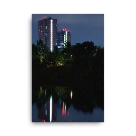 The Riverfront 4 Urban Landscape Traditional Canvas Wall Art Print