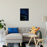 The Ben Franklin Bridge 3 Night Photo Fine Art Canvas & Unframed Wall Art Prints - PIPAFINEART