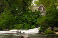 The Brandywine River and First Presbyterian Church Fine Art Canvas & Unframed Wall Art Prints - PIPAFINEART