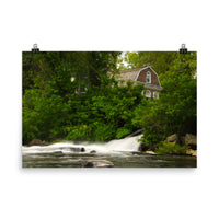 The Brandywine River and First Presbyterian Church Color Landscape Photo Loose Wall Art Prints  - PIPAFINEART