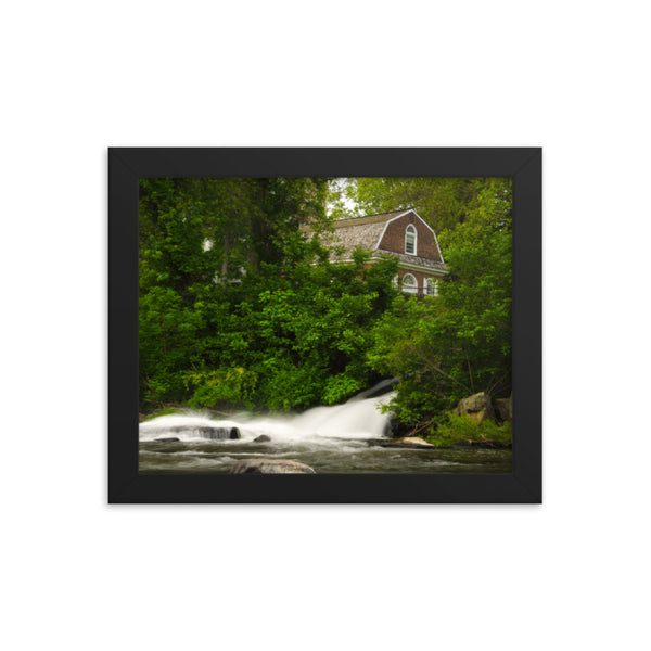 The Brandywine River and First Presbyterian Church Framed Photo Paper Wall Art Prints  - PIPAFINEART