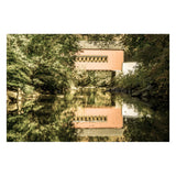 The Reflections of Wooddale Covered Bridge Aged Fine Art Canvas Wall Art Prints  - PIPAFINEART