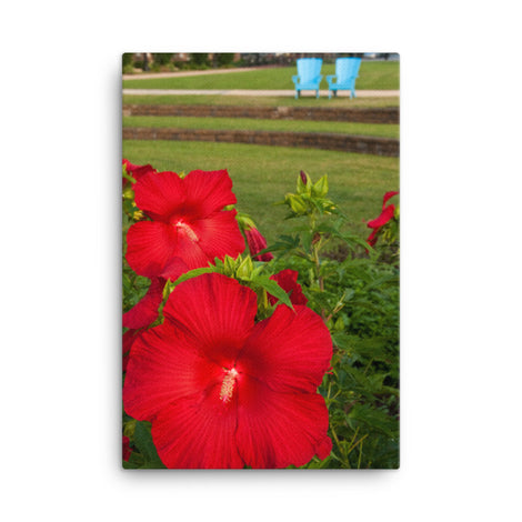 The Riverfront 2 Floral Nature Canvas Wall Art Prints
