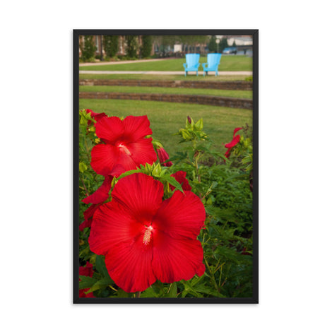 The Riverfront 2 Floral Nature Photo Framed Wall Art Print