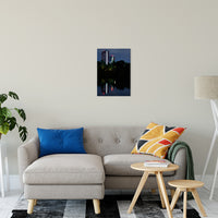 The Riverfront 4 Night Photo Fine Art Canvas & Unframed Wall Art Prints - PIPAFINEART
