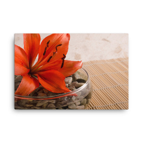 Tranquil Lily Floral Nature Canvas Wall Art Prints