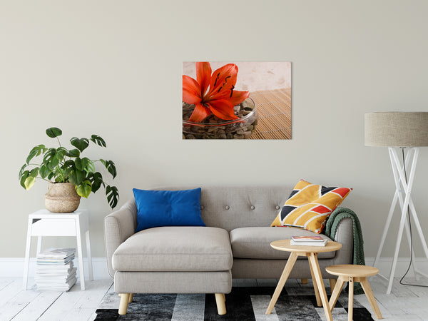 Floral Nature Photograph Tranquil Lily - Fine Art Canvas - Home Decor Wall Art Prints Unframed