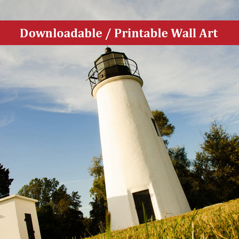 Turkey Point Lighthouse Landscape Photo DIY Wall Decor Instant Download Print - Printable
