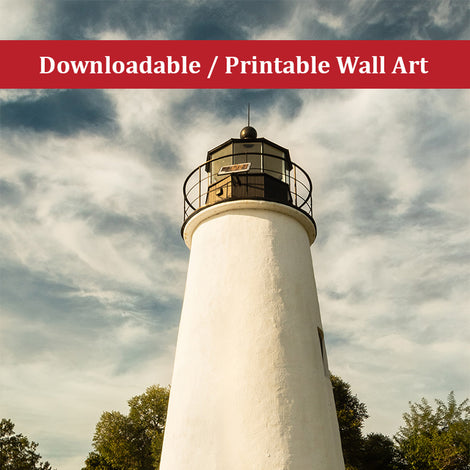 Turkey Point Lighthouse Standing Tall Landscape Photo DIY Wall Decor Instant Download Print - Printable