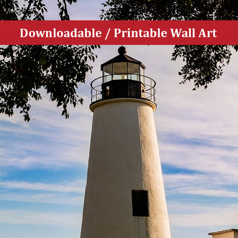 Turkey Point Lighthouse in the Trees Landscape Photo DIY Wall Decor Instant Download Print - Printable