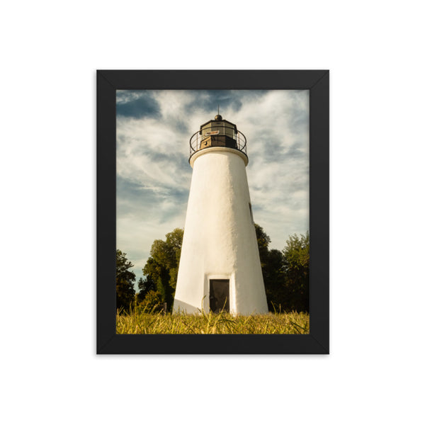 Turkey Point Lighthouse Standing Tall Landscape Framed Photo Paper Wall Art Prints  - PIPAFINEART