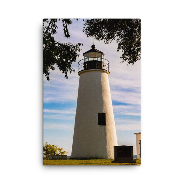 Turkey Point Lighthouse in the Trees Coastal Landscape Canvas Wall Art Prints