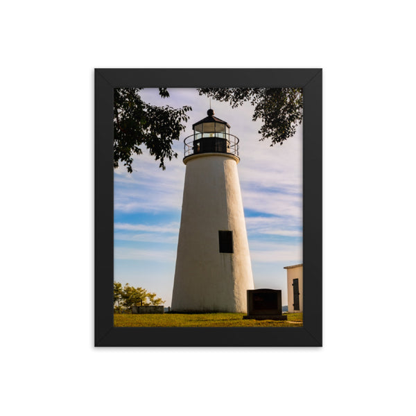Turkey Point Lighthouse in the Trees Landscape Framed Photo Paper Wall Art Prints  - PIPAFINEART