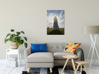 "Turkey Point Lighthouse with Sun Flare Landscape Fine Art Canvas Wall Art Prints 24"" x 36"" / Canvas Fine Art - PIPAFINEART"
