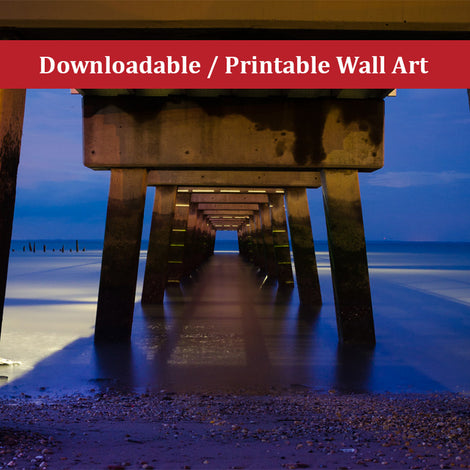 Under the Pier Landscape Photo DIY Wall Decor Instant Download Print - Printable