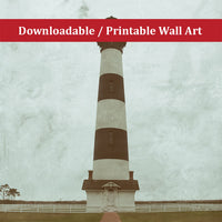 Aged Colorized Bodie Lighthouse Landscape Photo DIY Wall Decor Instant Download Print - Printable