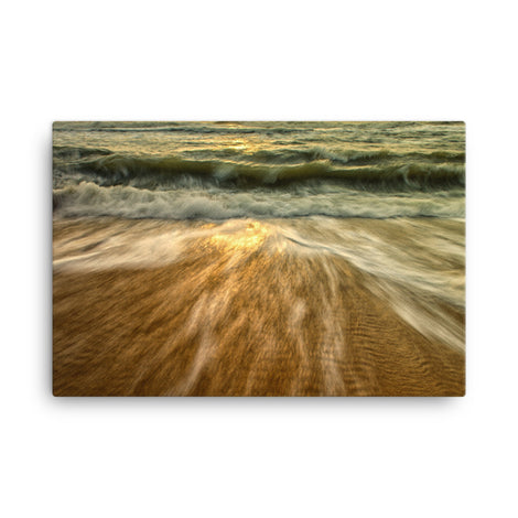Washing Out to Sea Coastal Nature Canvas Wall Art Prints
