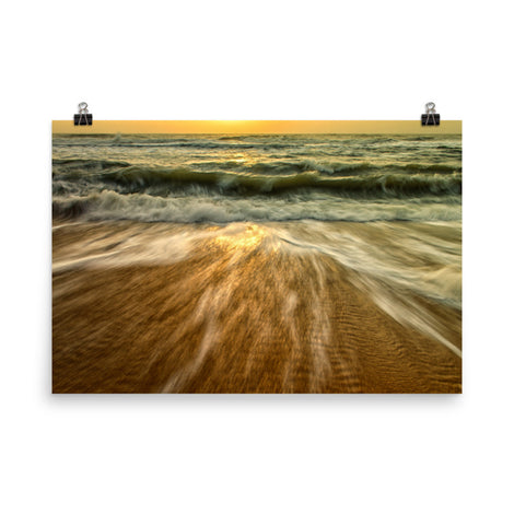 Washing Out to Sea Coastal Nature Photo Loose Unframed Wall Art Prints