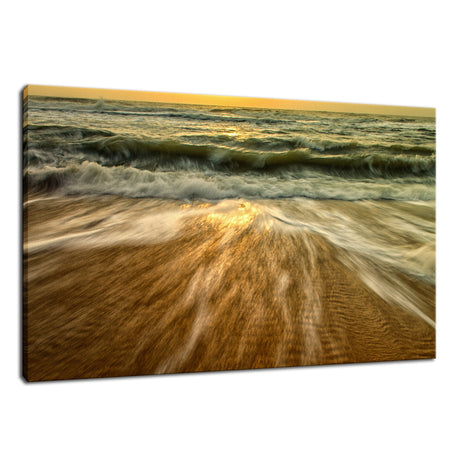 Washing Out to Sea Nature / Coastal Photo Fine Art Canvas Wall Art Prints
