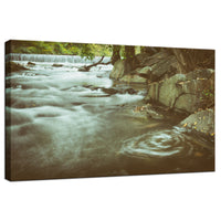 Water Swirl in the River Rustic Landscape Fine Art Canvas Wall Art Prints  - PIPAFINEART