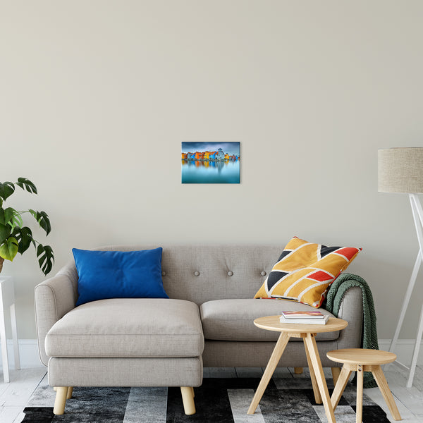 "Blue Morning at Waters Edge Groningen Netherlands Europe Landscape Wall Art Canvas Prints 11"" x 14"" / Canvas Fine Art - PIPAFINEART"