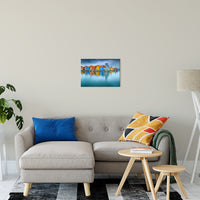 "16"" x 20"" Blue Morning at Waters Edge Groningen Netherlands Europe Landscape Wall Art Canvas Prints"