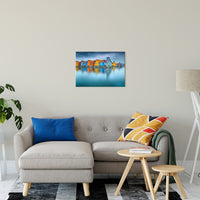 "Blue Morning at Waters Edge Groningen Netherlands Europe Landscape Wall Art Canvas Prints 20"" x 24"" - PIPAFINEART"