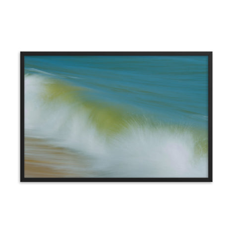 Waves Abstract Coastal Nature Photo Framed Wall Art Print
