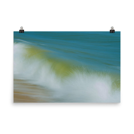 Waves Abstract Coastal Nature Photo Loose Unframed Wall Art Prints