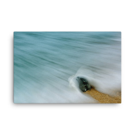 Whelk Seashell and Misty Wave Coastal Nature Canvas Wall Art Prints
