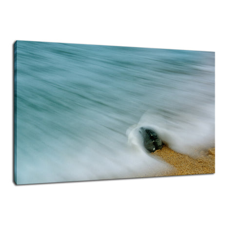 Whelk Seashell and Misty Wave Nature / Coastal Photo Fine Art Canvas Wall Art Prints
