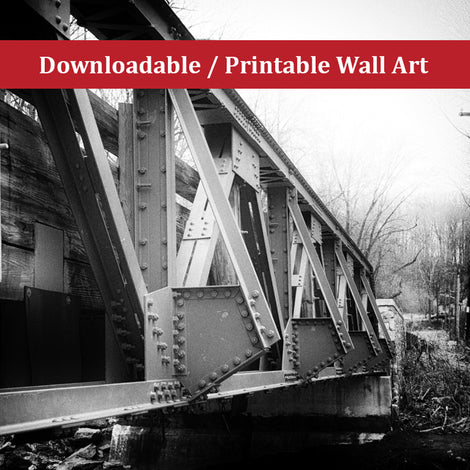 White Clay Creek Bridge Landscape Photo DIY Wall Decor Instant Download Print - Printable
