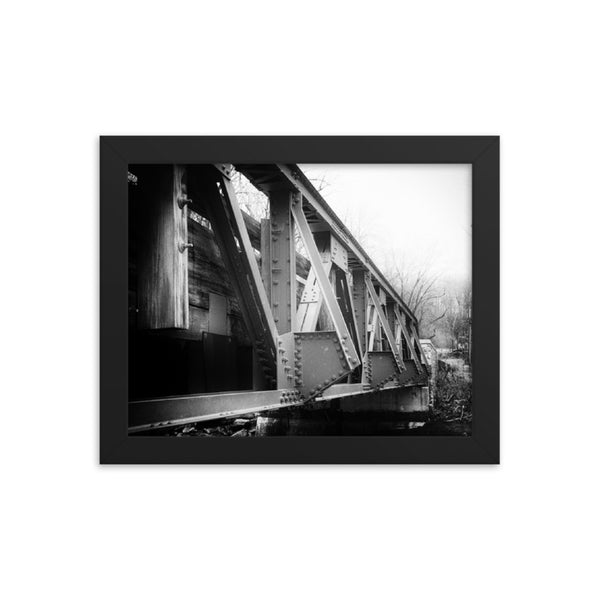 White Clay Creek Bridge Rural Landscape Framed Photo Paper Wall Art Prints  - PIPAFINEART