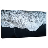 White Waters and Black Sand Coastal Landscape Fine Art Canvas Wall Art Prints  - PIPAFINEART