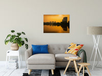 "Wilmington at Sunrise Urban Landscape Fine Art Canvas Wall Art Prints 24"" x 36"" - PIPAFINEART"
