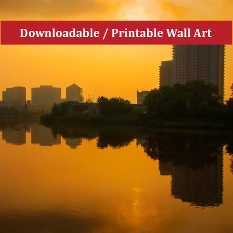 Wilmington at Sunrise Landscape Photo DIY Wall Decor Instant Download Print - Printable