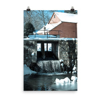 Winter Mill Landscape Photo Loose Wall Art Print  - PIPAFINEART