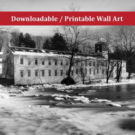 Winter at Powder Mill Landscape Photo DIY Wall Decor Instant Download Print - Printable