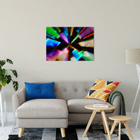 "Zoomed CDs Abstract Photo Fine Art Canvas & Unframed Wall Art Prints 24"" x 36"" / Fine Art Canvas - PIPAFINEART"