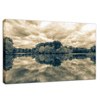 Nature Landscape Photography - Autumn Reflections - Split Toned - Fine Art Canvas - Home Decor Unframed Wall Art Prints