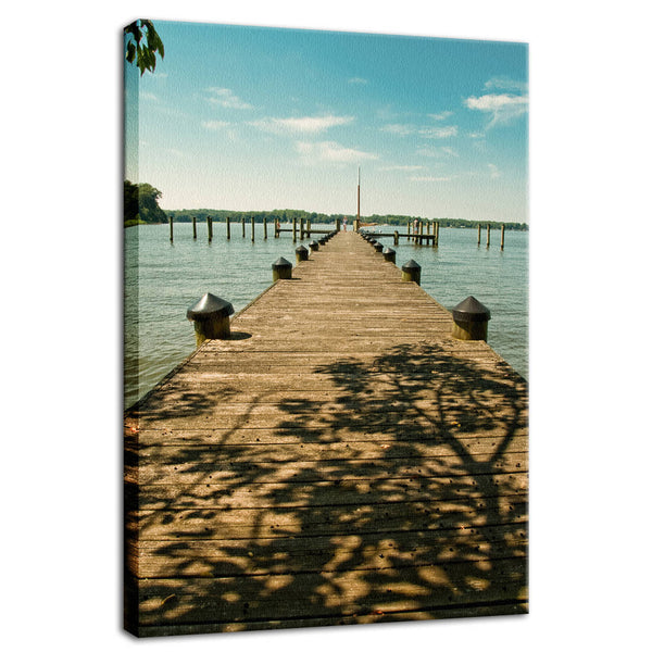 Coastal Landscape Photograph Endless Dock Beach Art - Fine Art Canvas - Home Decor Wall Art Prints Unframed - PIPAFINEART