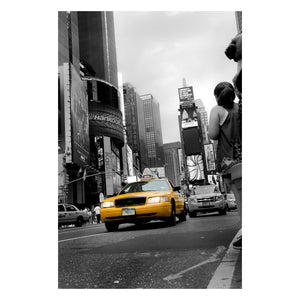 Abstract Photography Shining Taxi Cab - Black and White Fine Art Canvas - Home Decor Wall Art Prints Unframed